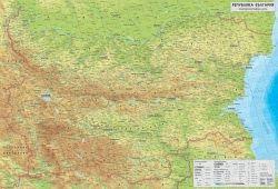 Стенна природогеографска карта на България 1:270 000