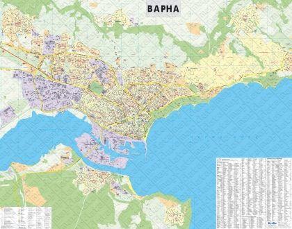 Стенна карта на Варна, ламинирана