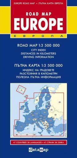Пътна карта на Европа 1:3 500 000