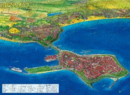 Wall-map of  Nessebar