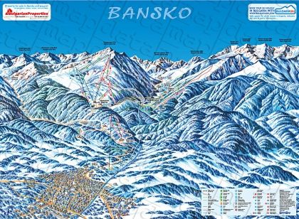 Wall-map of Bansko
