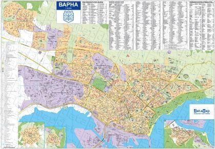 Стенна карта на Варна 1:10 000