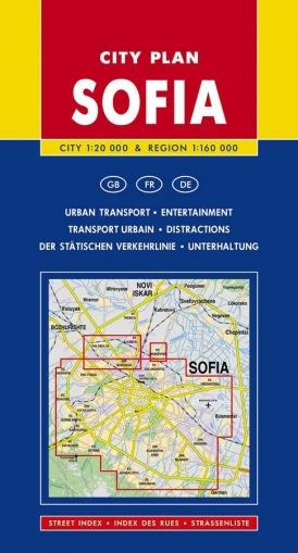 City Plan of Sofia and Area 1:20 000