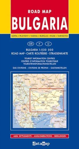 Road Map of Bulgaria 1:530 000