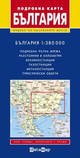 Подробна карта на България 1:380 000