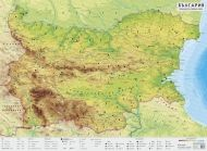 Physical wall-map of Bulgaria
