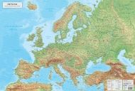 Physical wall-map of Europe 1:6 200 000