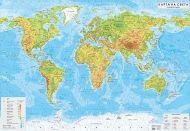 Стенна природогеографска карта на света 1:17 000 000, ламинирана