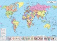 Political wall-map of world 1:24 000 000, laminated