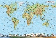 Wall-map of world - plants and animals. Map of Bulgaria - plants and animals - laminated