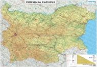 Wall-road map of Bulgaria 1:530 000, laminated