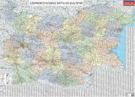 Administrative wall-map of Bulgaria 1:380 000