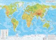 Стенна природогеографска карта на света 1:24 000 000, ламинирана
