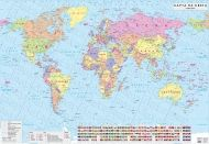 Political wall-map of world  1:17 000 000, laminated