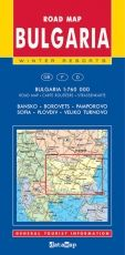 Road Map of Bulgaria and winter resorts 1:760 000