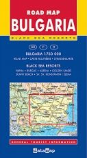 Road Map of Bulgaria and summer resorts 1:760 000