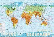 Стенна климатична карта на света 1:17 000 000, ламинирана